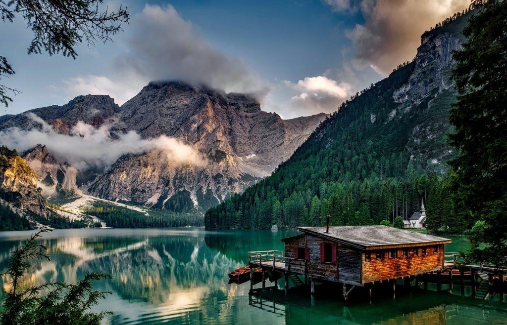 Ferienhaus vor den Alpen in Italien